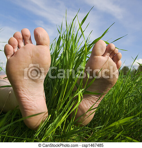 Barefooted a foot - csp1467485