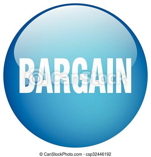 bargain blue round gel isolated push button - csp32446192