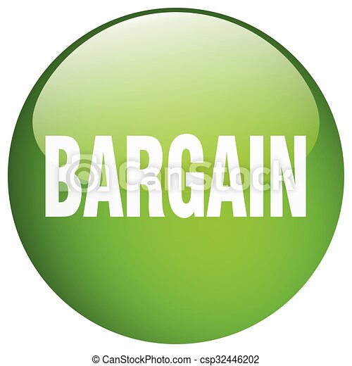 bargain green round gel isolated push button - csp32446202