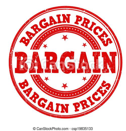 Bargain prices stamp - csp19835133