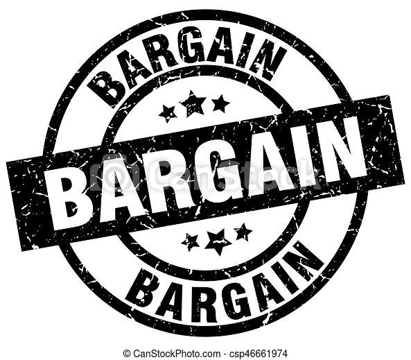 bargain round grunge black stamp - csp46661974