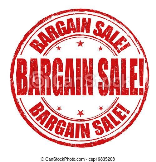Bargain sale stamp - csp19835208