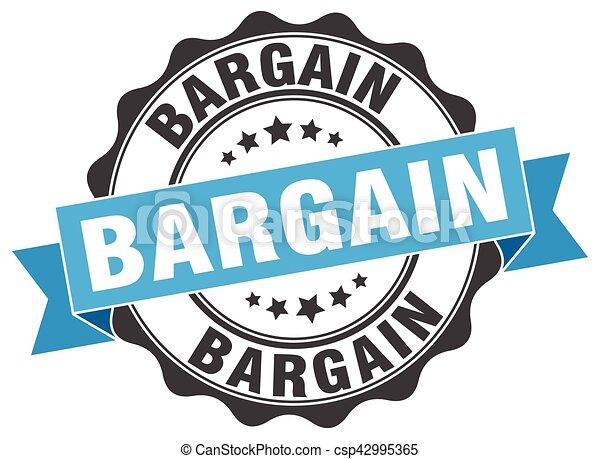 bargain stamp. sign. seal - csp42995365