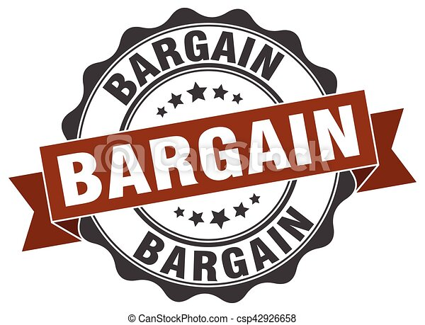 bargain stamp. sign. seal - csp42926658