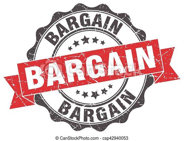 bargain stamp. sign. seal - csp42940053