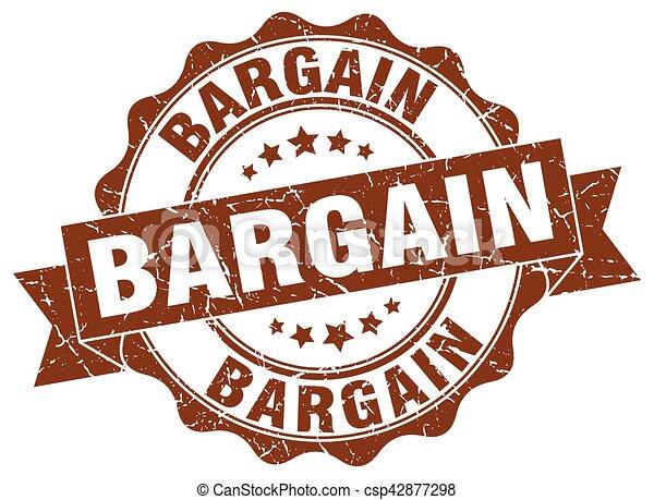 bargain stamp. sign. seal - csp42877298