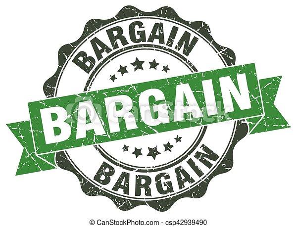 bargain stamp. sign. seal - csp42939490