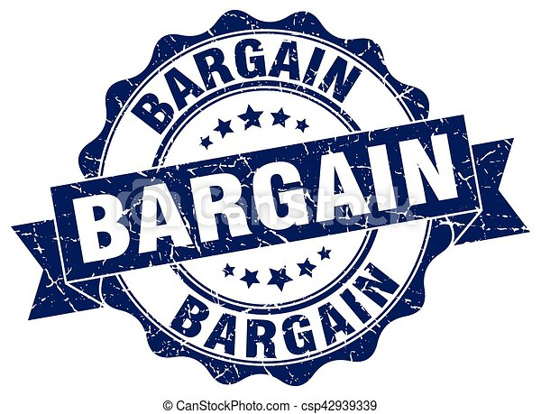 bargain stamp. sign. seal - csp42939339