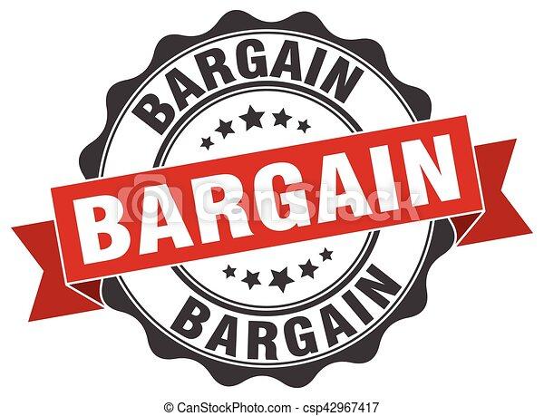 bargain stamp. sign. seal - csp42967417