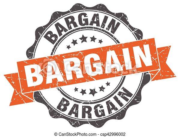 bargain stamp. sign. seal - csp42996002