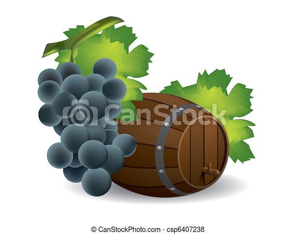 barile, vino uva - csp6407238