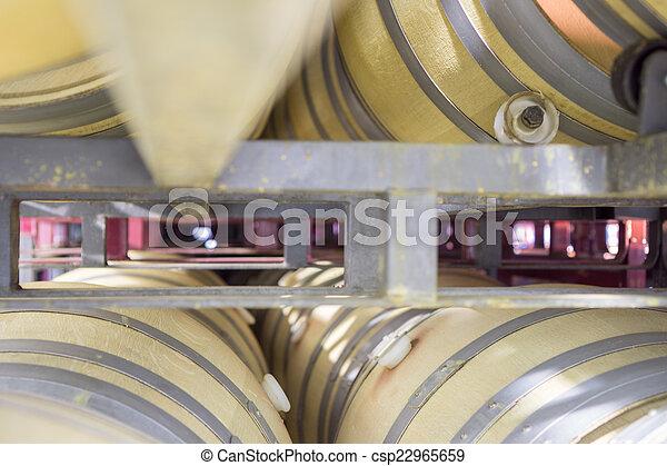barili, perspectivew, cantina, legno, vista, vino - csp22965659