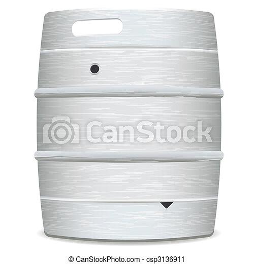 barilotto, birra, metallo - csp3136911