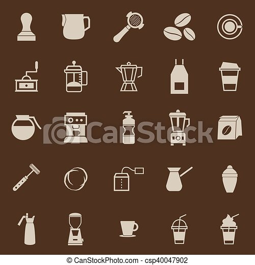 Barista color icon on brown background - csp40047902