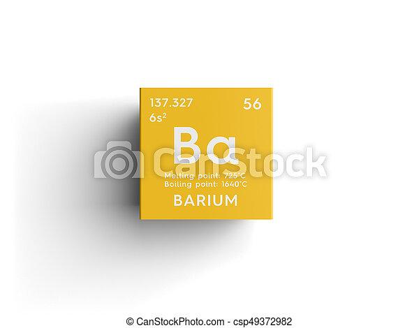 Barium Alkaline Earth Metals Chemical Element Of Mendeleevs