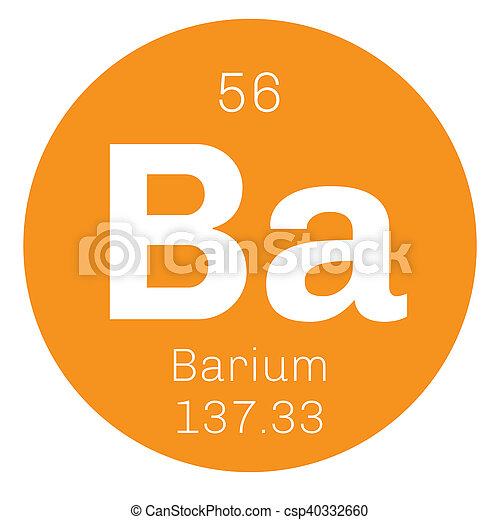 Barium Chemical Element An Alkaline Earth Metal Colored Icon With