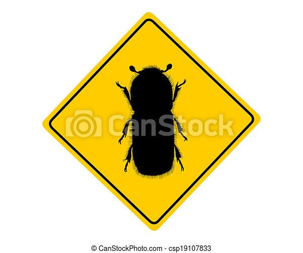 Bark beetle warning sign - csp19107833