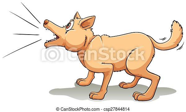 barking a brown dog barking upwards rh canstockphoto com Tree Bark Clip Art barking dog clipart images