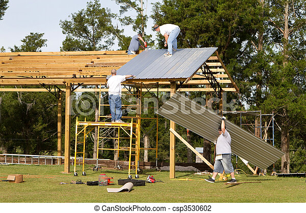 Barn Construction - csp3530602