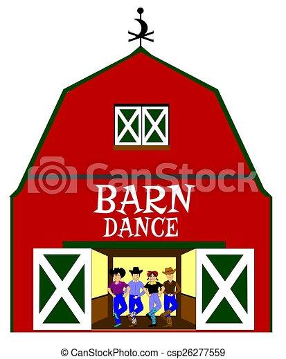 Barn Dance Stock Illustration