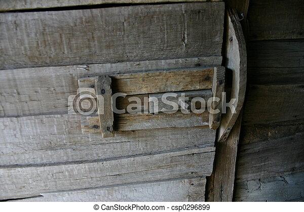 Barn Door Latch Handmade Wood Slide Latch On Old Barn Door