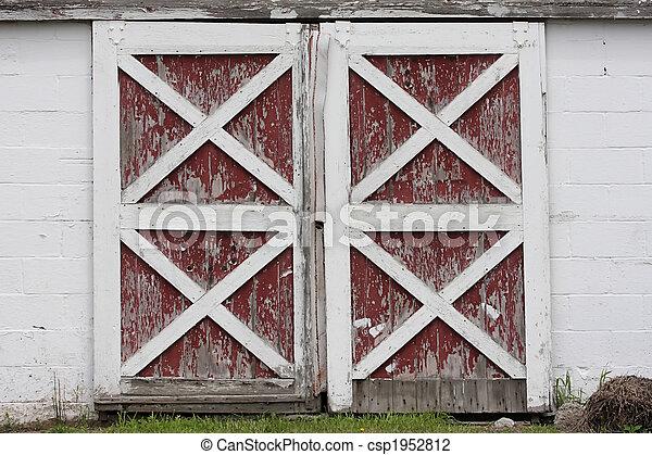red barn doors clip art. Barn Doors - Csp1952812 Red Clip Art