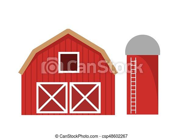 Barn Isolated - csp48602267