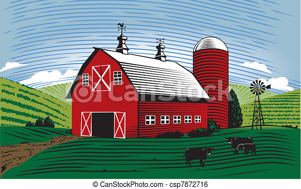 Cartoon Red Barn Stock Illustrationby Clairev45 8406 Scene