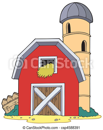 barn with granary vector illustration rh canstockphoto com barn clipart png barn clipart free vector