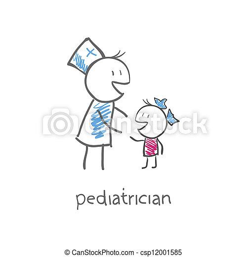 barnläkare, barn - csp12001585