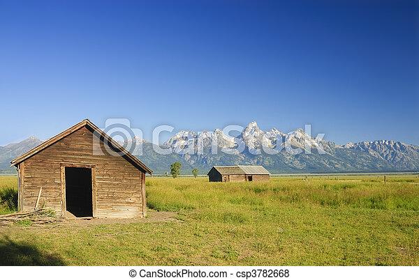 Barns on the prairie - csp3782668