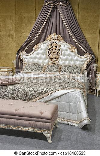Barok, slaapkamer. Stijl, kleuren, beige, slaapkamer,... Stockfoto\'s ...