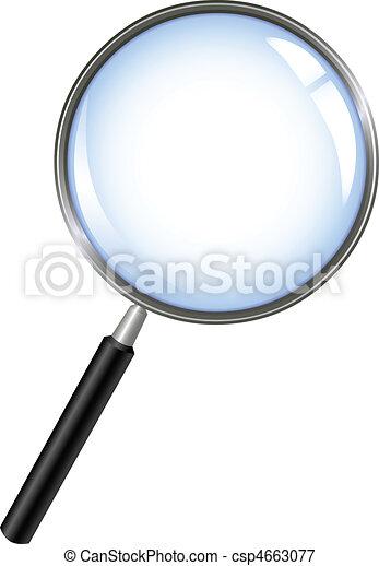 barometr, zvetšovací sklo - csp4663077