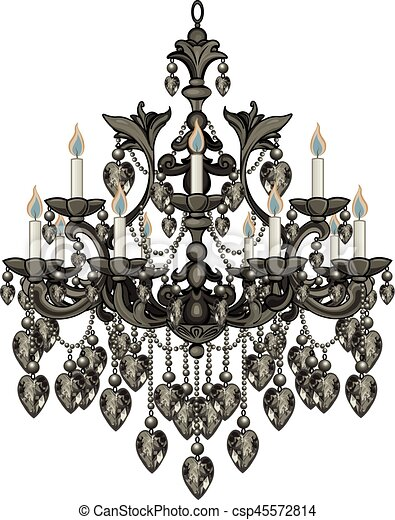 Baroque black chandelier illustration of baroque black vector baroque black chandelier csp45572814 aloadofball Image collections