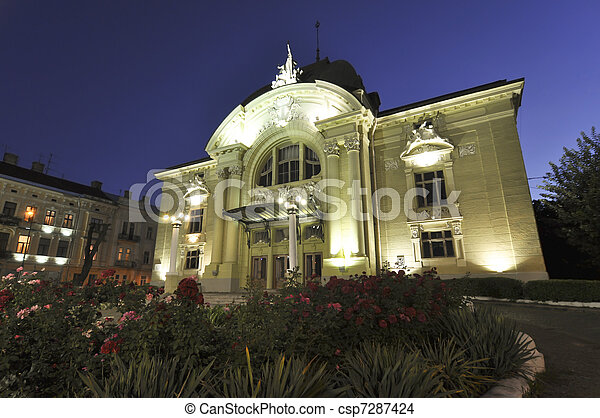 Baroque building of chernivtsi theater in ukraine built in by