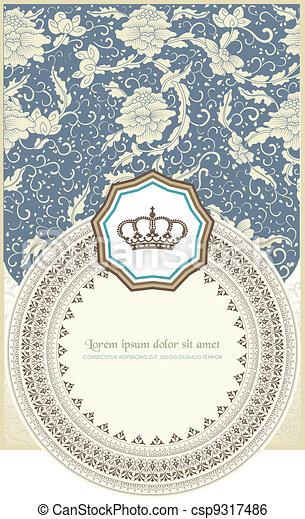 Baroque card - csp9317486