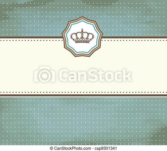baroque card - csp9301341