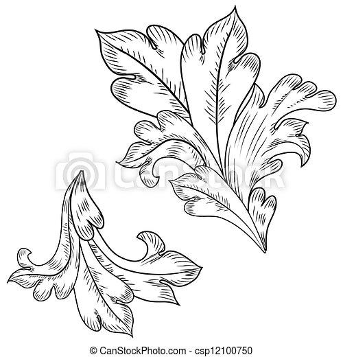 Baroque design elements  - csp12100750
