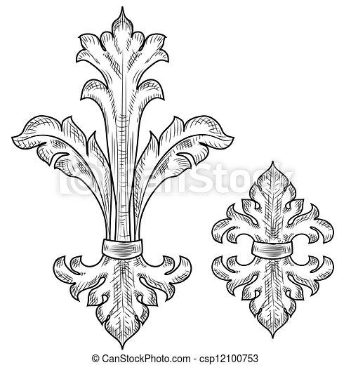 Baroque design elements  - csp12100753