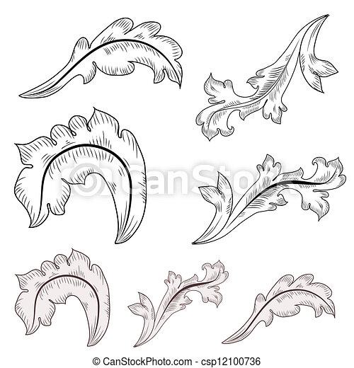 Baroque design elements  - csp12100736