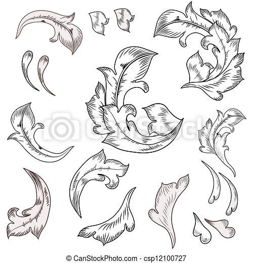 Baroque design elements  - csp12100727