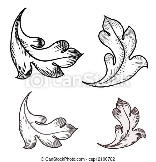 Baroque design elements  - csp12100702