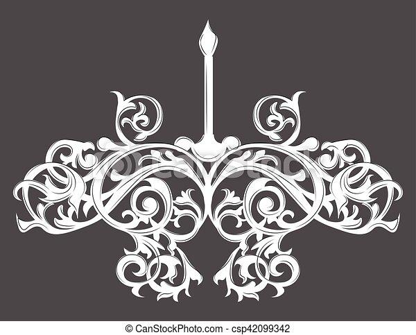 Baroque elegant lamp vintage ornamented vector luxury royal baroque baroque elegant lamp vintage csp42099342 aloadofball Gallery