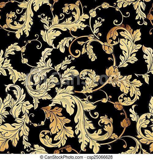 baroque floral pattern