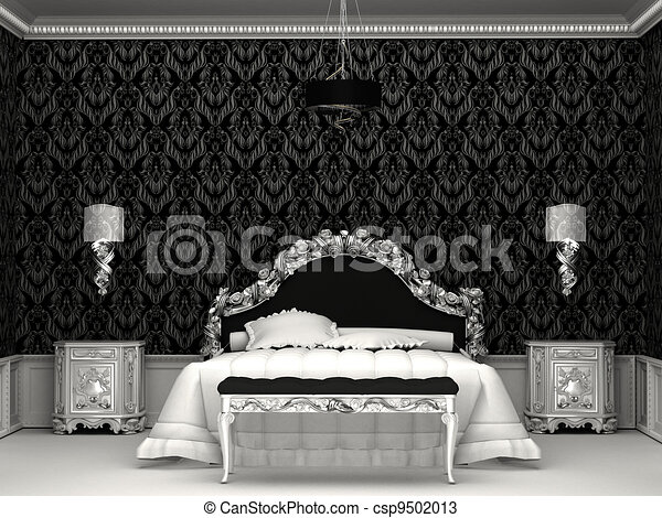 Baroque meubles roayl chambre coucher dessins for Chambre adulte complete baroque