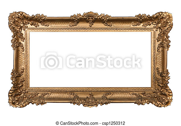 Baroque Ornamental Isolated Frame on White - csp1250312