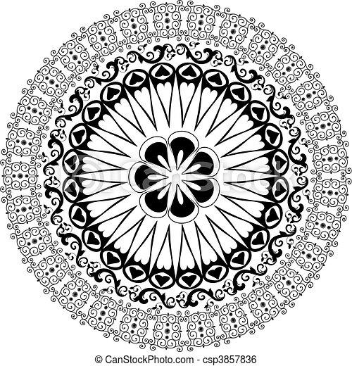 Baroque pattern round - csp3857836