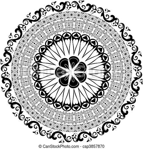 Baroque pattern round - csp3857870