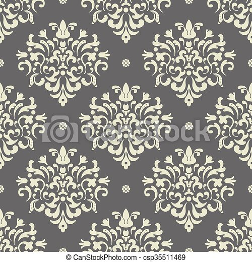 Baroque seamless vector background - csp35511469