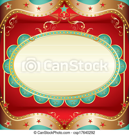 Baroque square frame - csp17640292